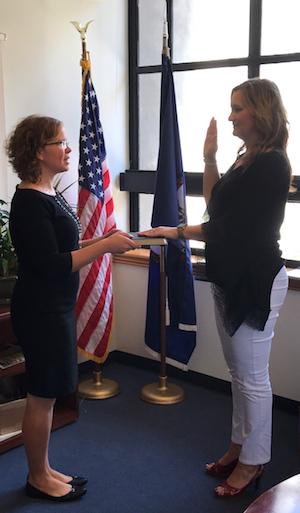 Caryn Foster takes oath