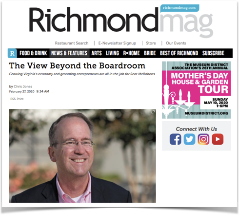 Richmond Magazine features Scot McRoberts