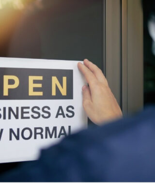 Business is open sign